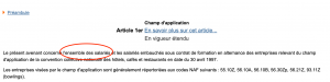 Exemple recherche salaire minimum conventionnel - Juri-Dico.fr3